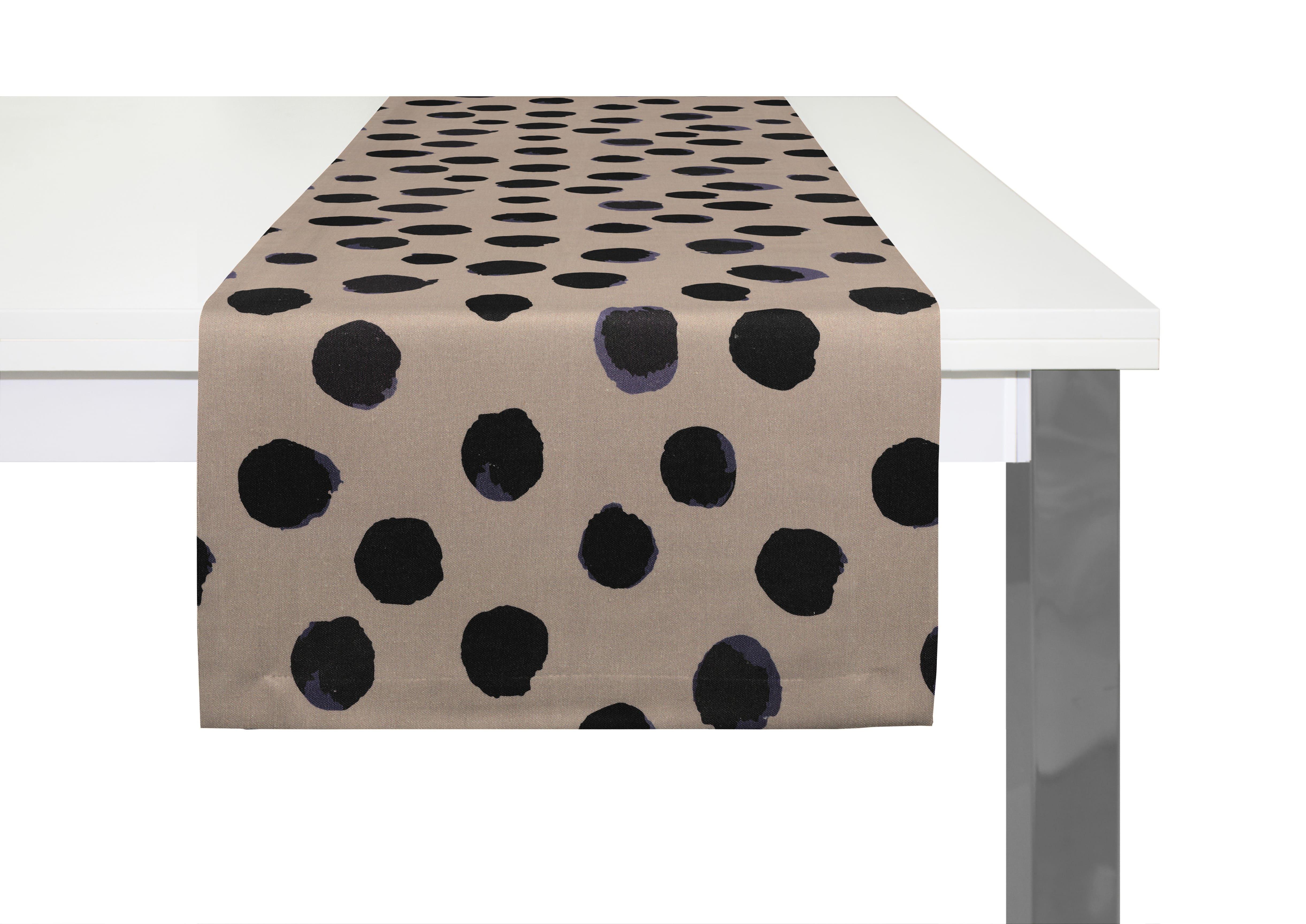 Bedruckter Tischläufer aus Leinen 'Dots'