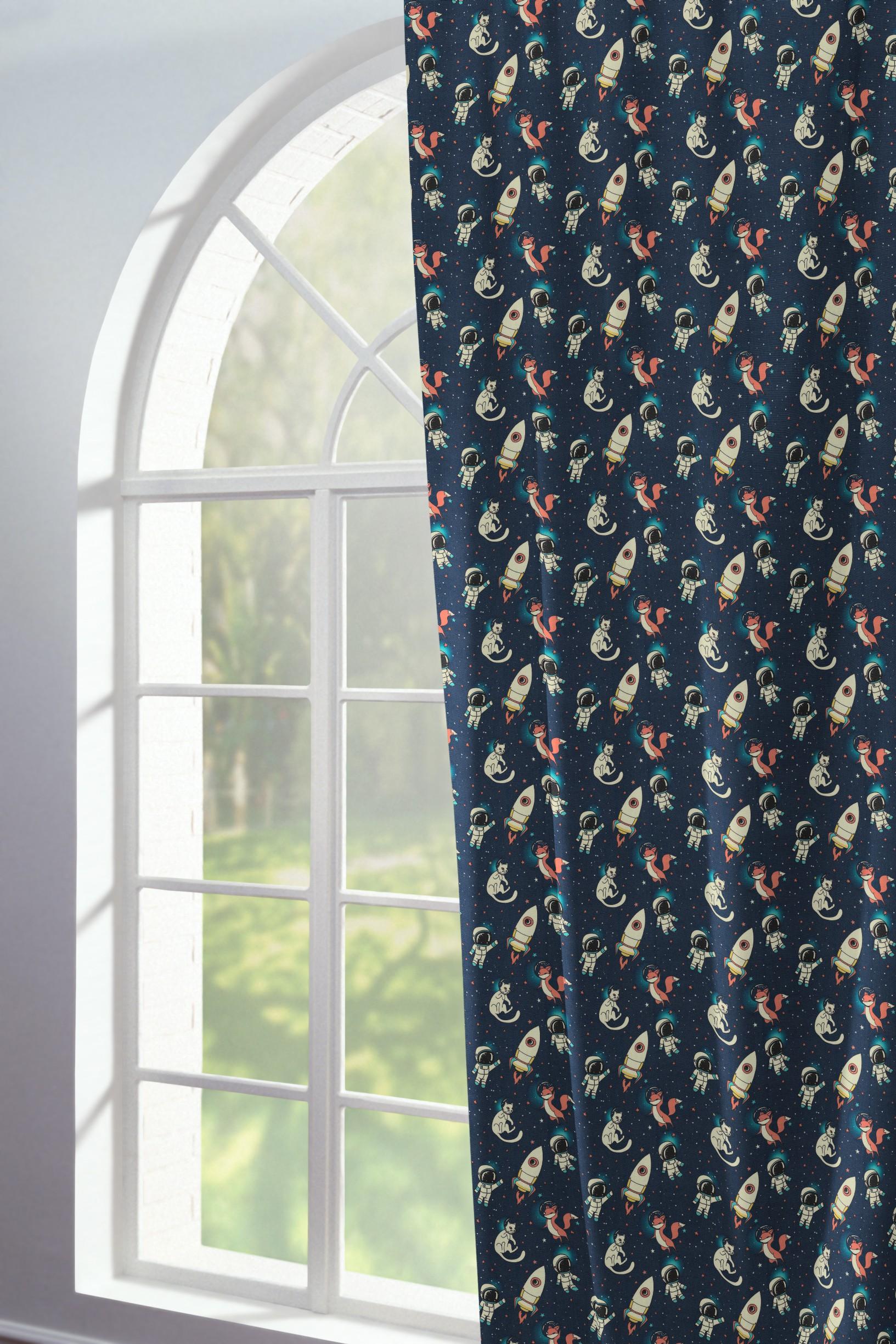 Bedruckter Vorhang für Kinder 'Space'