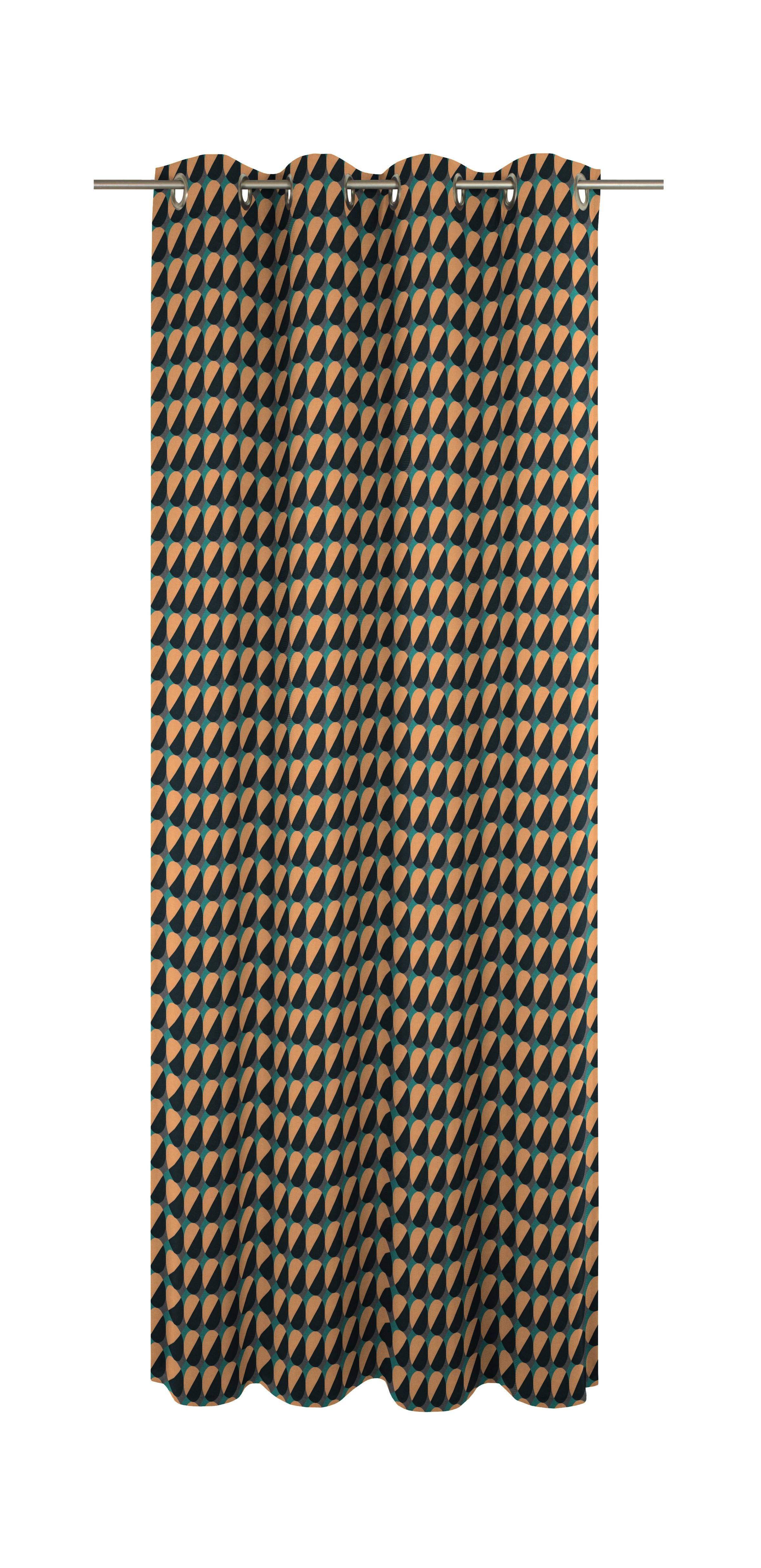 Bedruckter Vorhang 'Circles'