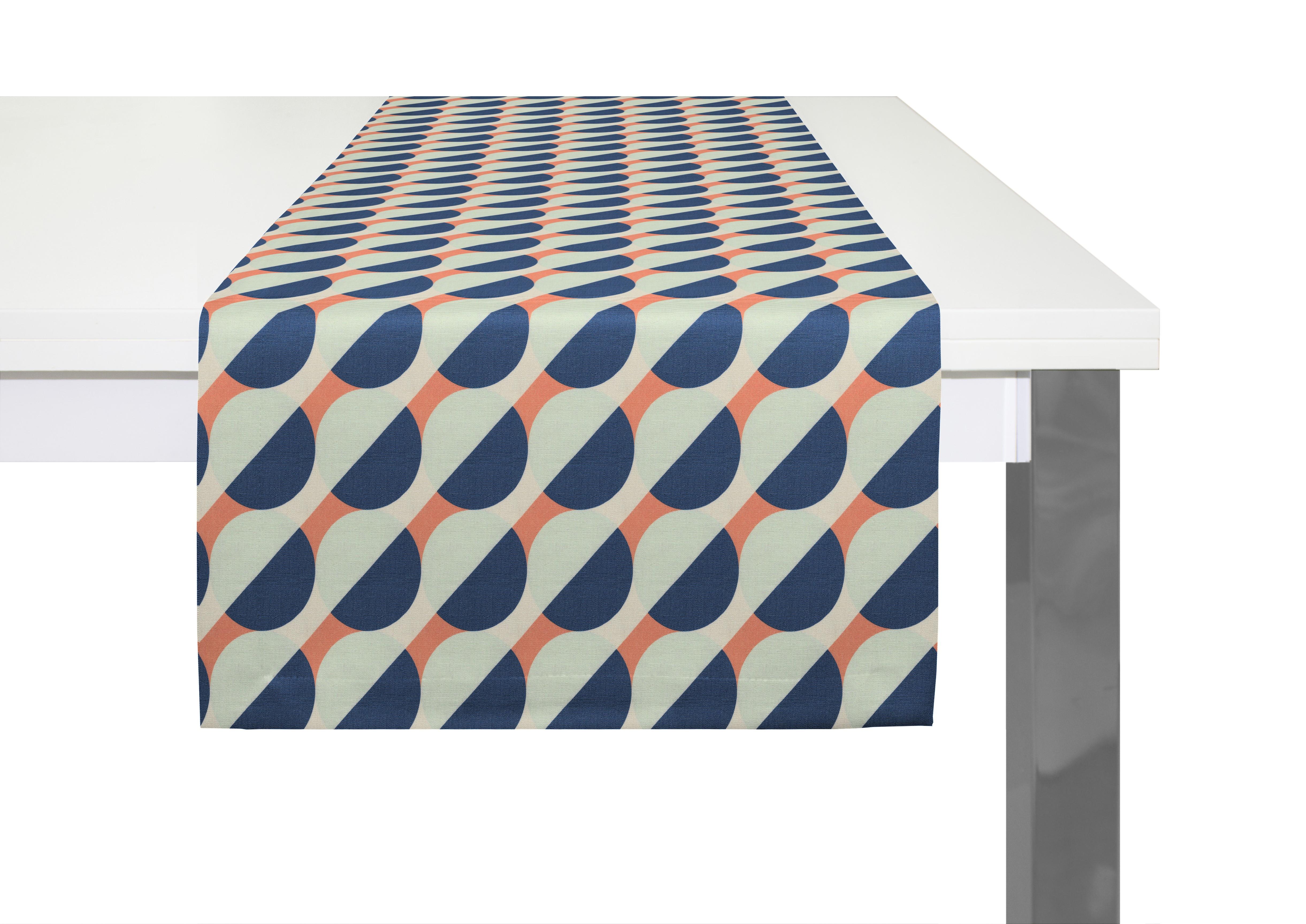 Bedruckter Tischläufer 'Circles'