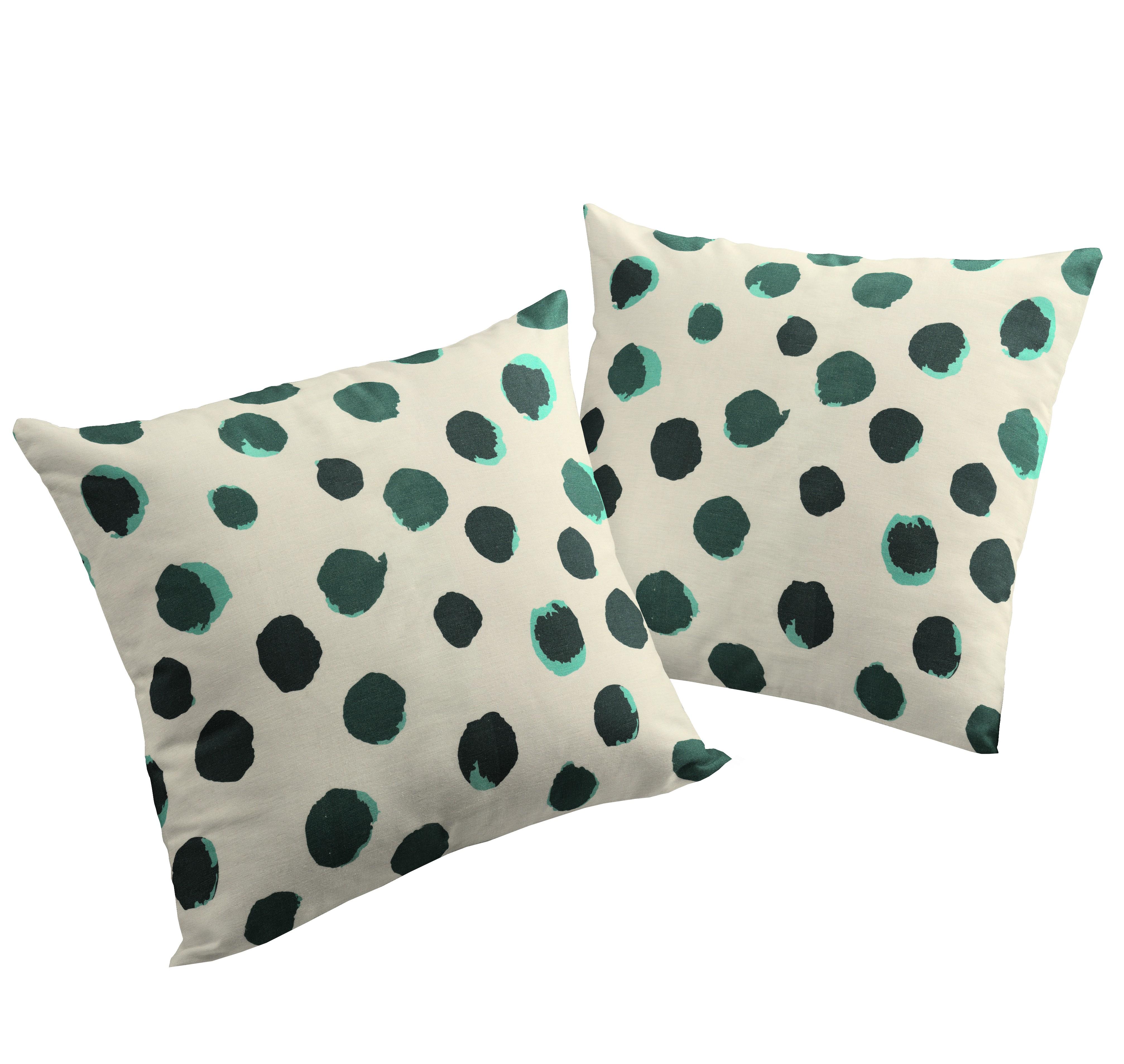 Kissenhülle aus Leinen 'Dots'