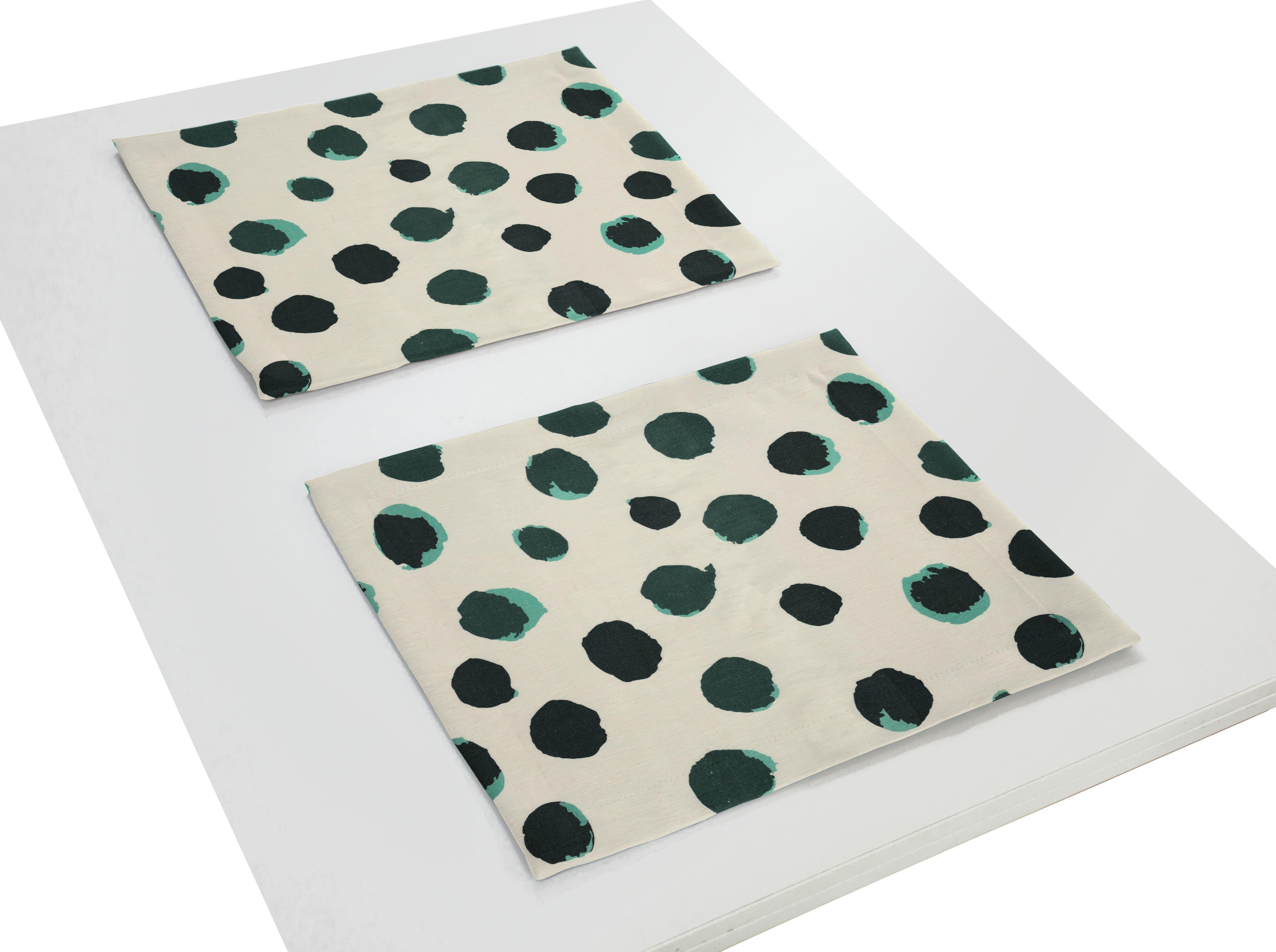 Tischset aus Leinen 'Dots' (2er Set)