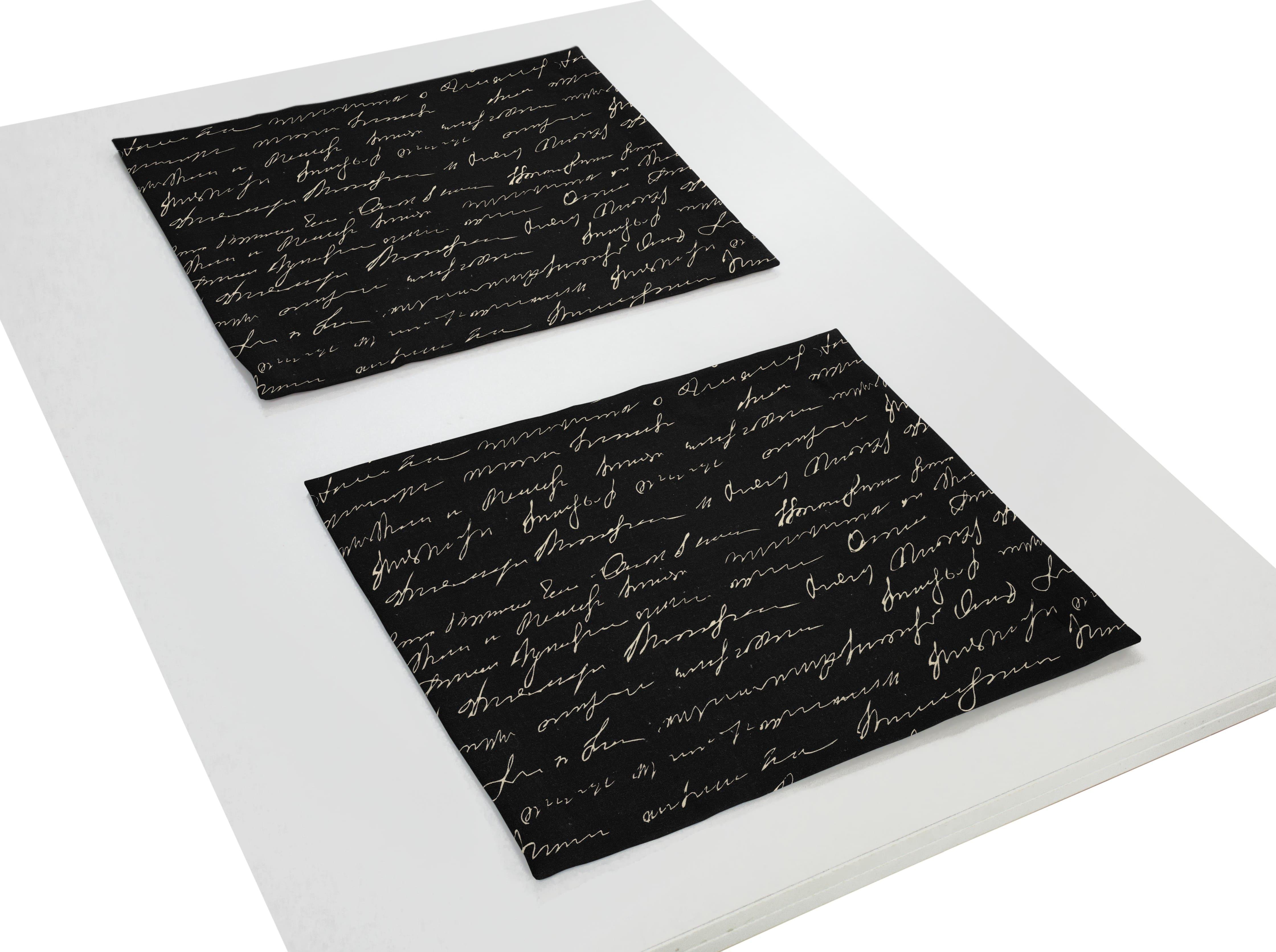 Tischset aus Leinen 'Scribble' (2er Set)