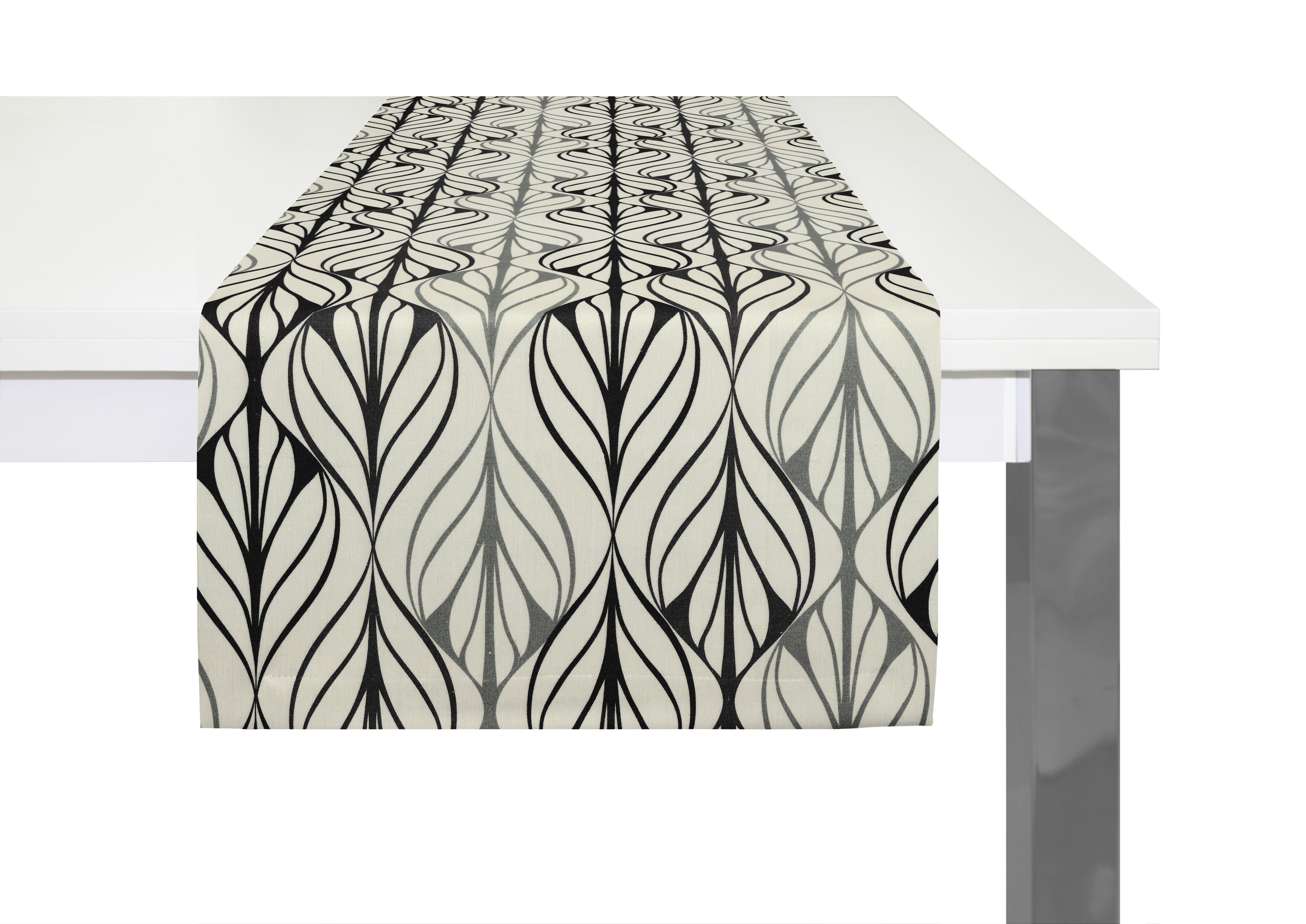 Bedruckter Tischläufer aus Leinen 'Wave'