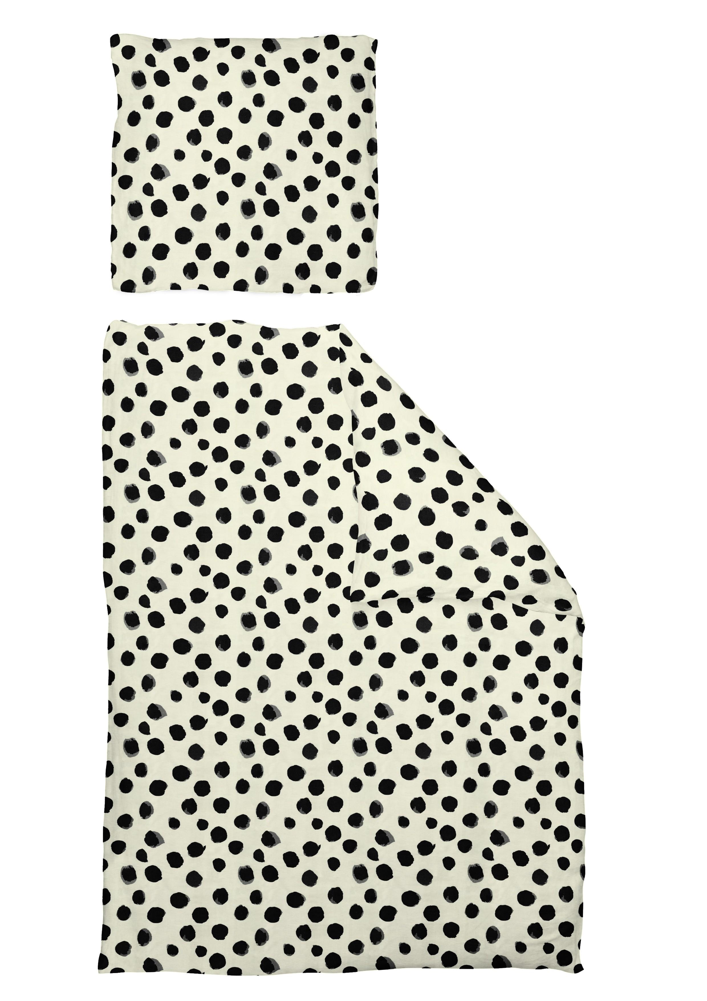 Bedruckte Leinenbettwäsche 'Dots'